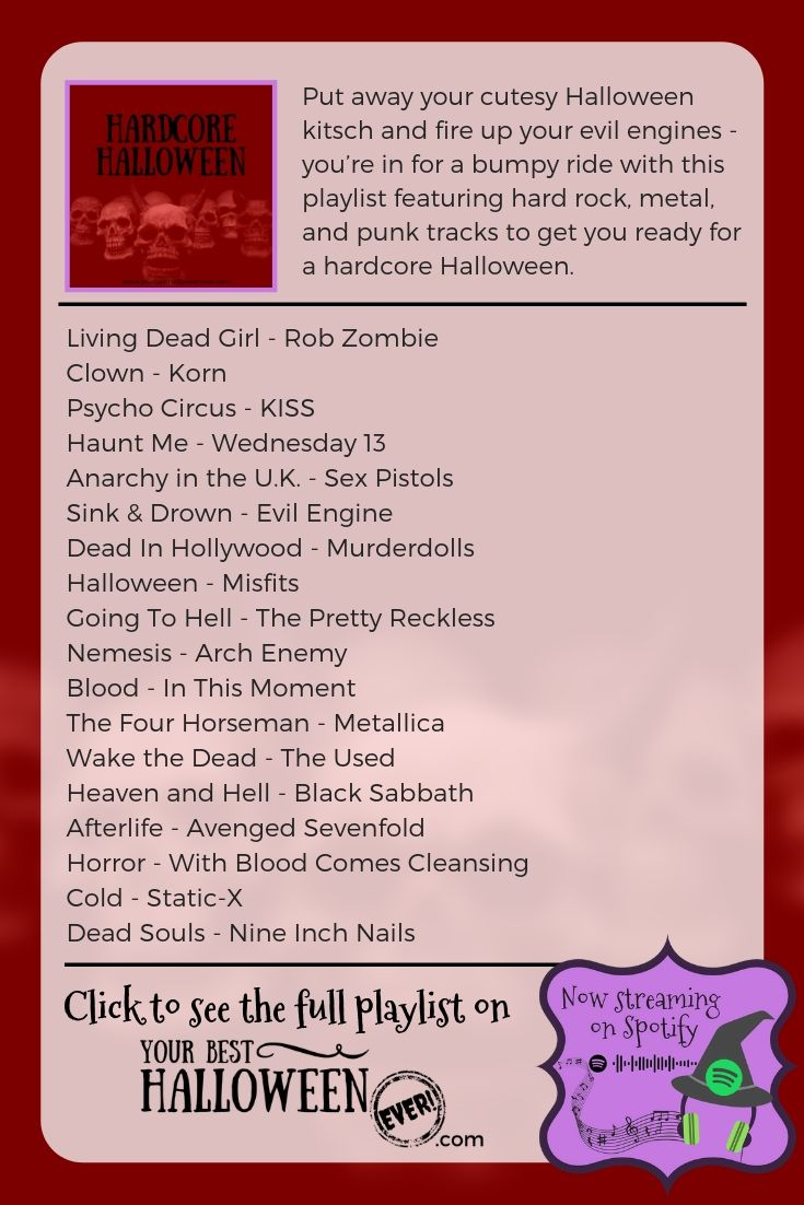 hardcore halloween rock music playlist