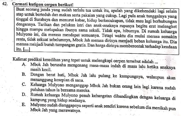 Contoh Soal Un Memprediksi Kelanjutan Cerita Dan Pembahasan Zuhri Indonesia