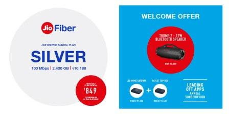 jio fiber plans silver