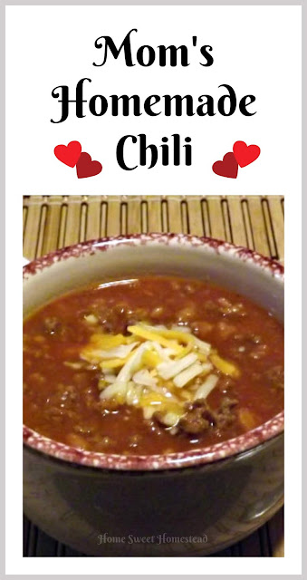 Moms Homemade Chili-Home Sweet Homestead