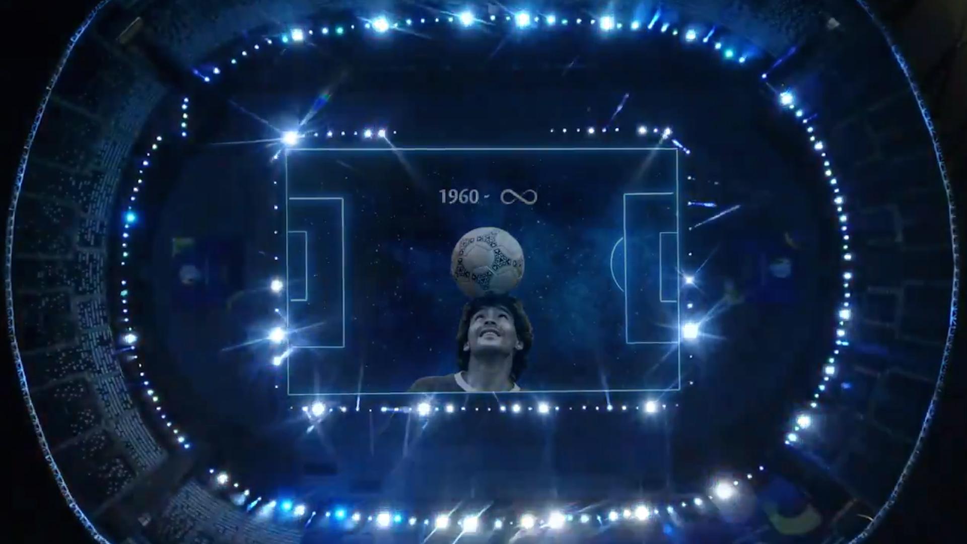 VIDEO: El emotivo homenaje a Diego Maradona en la previa de Argentina-Chile