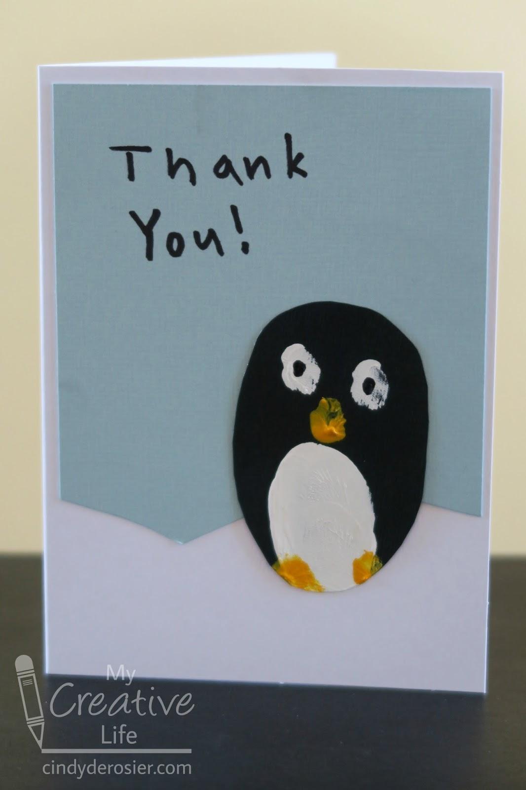 cindy derosier my creative life fingerprint penguin thank you cards