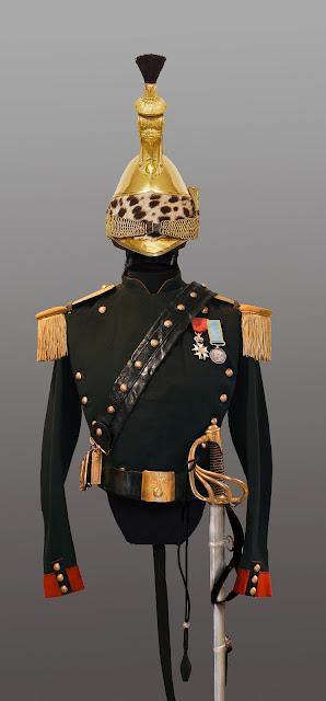 Tenue Capitaine au 12eme Dragons   1858:1862 02.B