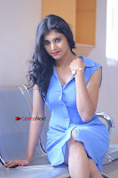 Telugu Actress Mounika UHD Stills in Blue Short Dress at Tik Tak Telugu Movie Audio Launch .COM 0134.JPG