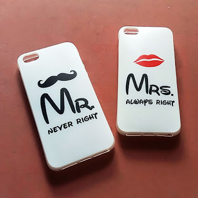 custom case couple mr & mrs