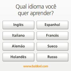 Qual idioma você quer aprender com a Babbel?