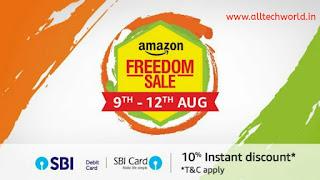 Amazon Freedom Sale 2018 Amazon Freedom Sale sbi offer