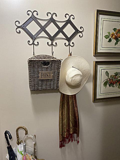front hall metal coat hanger