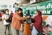 Aksi Bagi-bagi Sembako Kembali Digelar MTB,  Pemuda NW NTB dan Mi6 di Universitas NW Gomong -Mataram