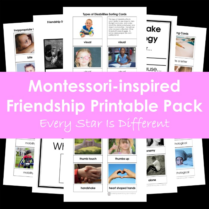 Montessori-inspired Friendship Printable Pack