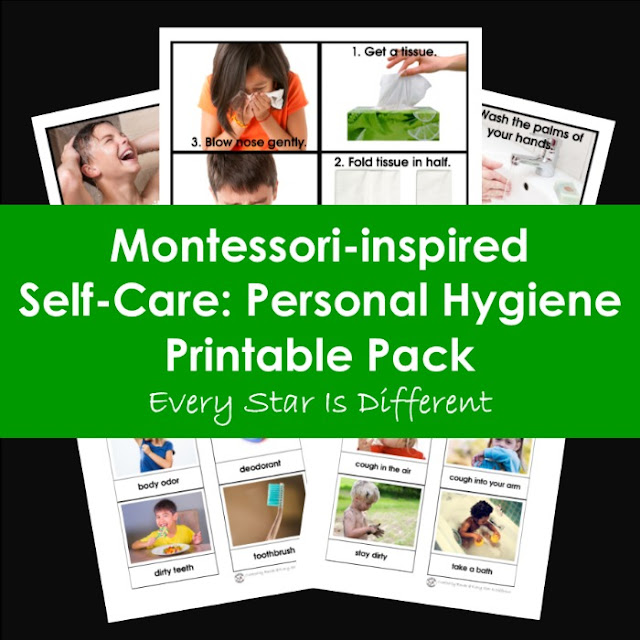 Montessori-inspired Self-Care: Personal Hygiene Printable Pack