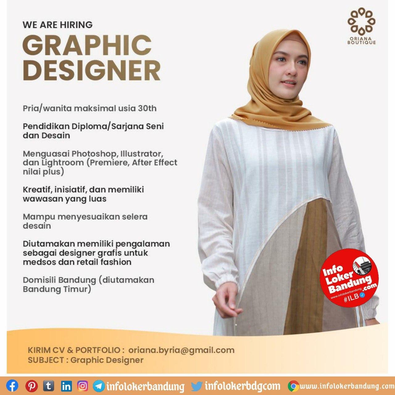 Lowongan Kerja Graphic Designer Oriana Boutique Bandung Oktober 2020