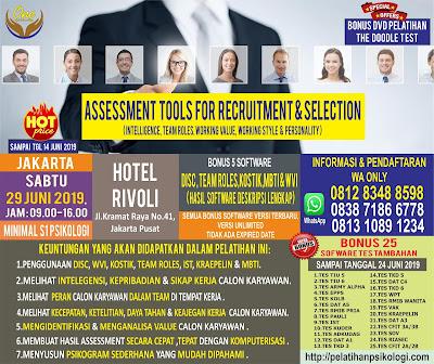 Workshop Psikologi Jakarta   Pelatihan Alat Tes Psikologi 2019   WA: 0812-8348-8598