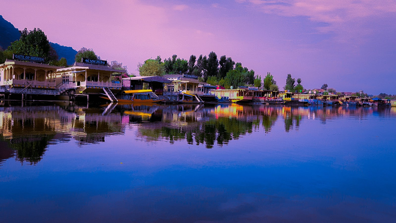 Boathouse In Dal Lake, Kashmir