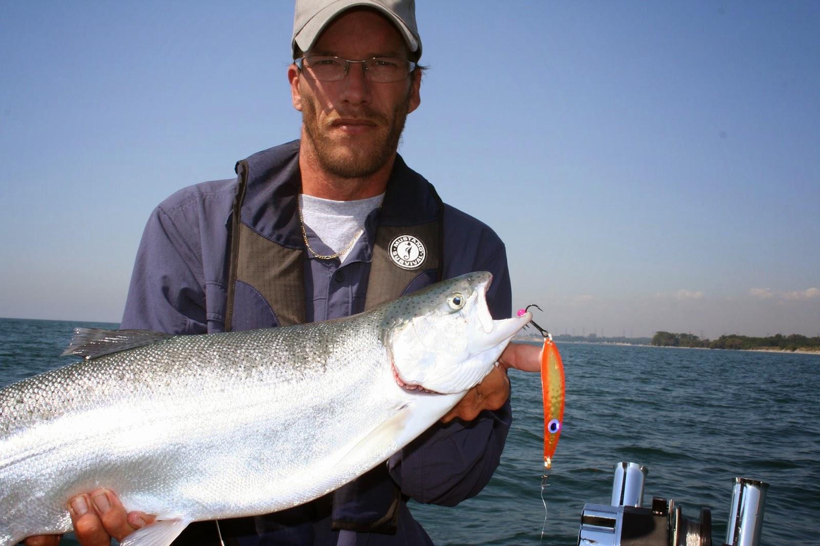 Yvan Rousseau, guide de pêche, lac Ontario, Baie de Quinte, Daniel Lefaivre