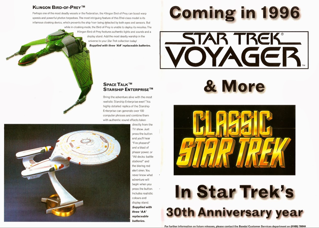 Star Trek : La gamme de jouets Bandai