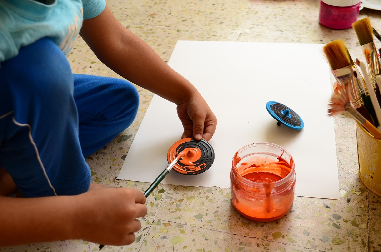 Paint with Spinning Tops