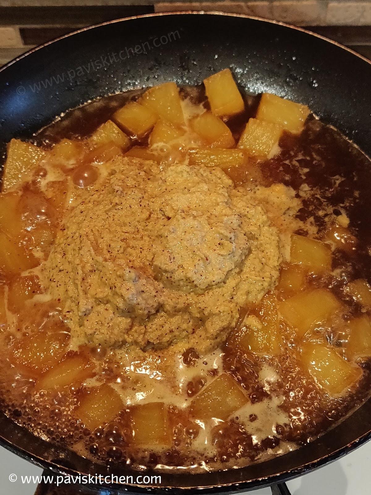 Ananas Sasive | Pineapple Gojju Menaskai | Pineapple Curry Recipe