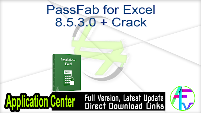 PassFab for Excel 8.5.3.0 + Crack