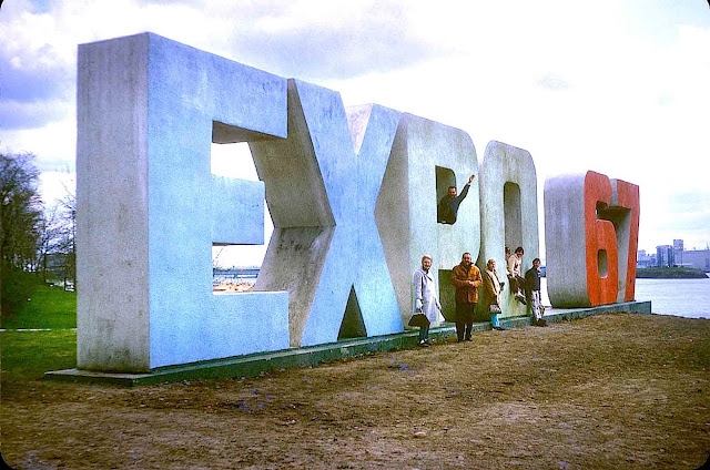 expo 67 logo raised sign