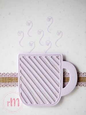 Stampin' Up! rosa Mädchen Kulmbach: Stamp A(r)ttack Blog Hop: Monochrom – Weihnachtskarte mit Weihnachtstasse und From our house to yours