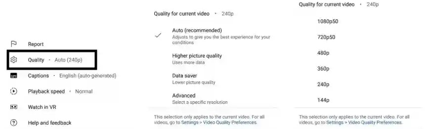 YouTube Mobile App Get New Video Resolution Settings