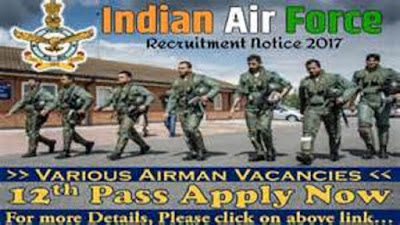 Indian Air Force Recruitment 2017 - Post of Airman Groups X & Y Trade