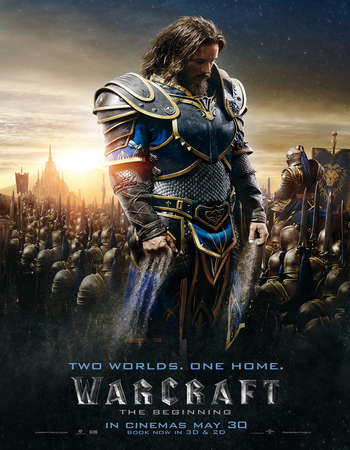 Poster Of Warcraft The Beginning 2016 ORG Dual Audio 500MB BRRip 720p ESubs HEVC Free Download Watch Online downloadhub.net
