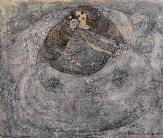 Whoopidooings:  Frances MacDonald - Girl With Butterflies