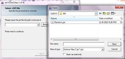 gambar : file java menjadi exe