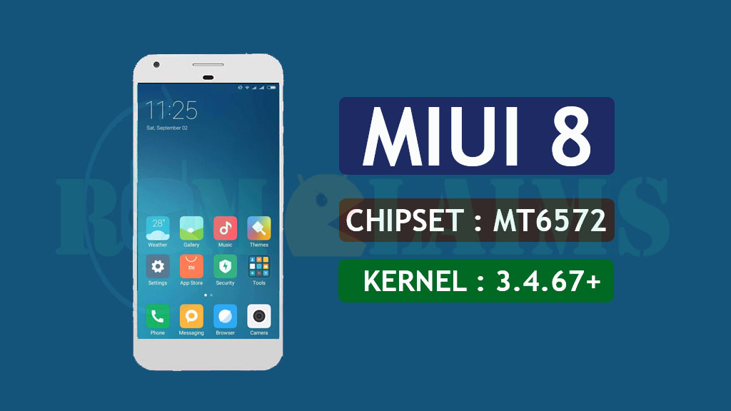 MT6572] [4 4 x] MIUI 8 v8 1 5 0 Rom For MT6572   Kernel 3 4
