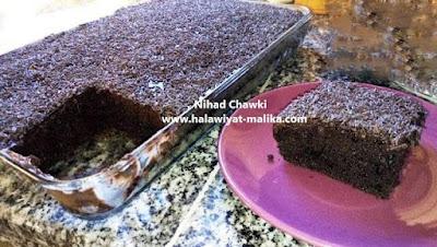 كيكة الشوكولا بصوص لذيذ