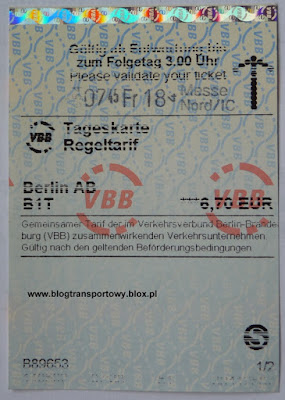 Tageskarte Berlin AB