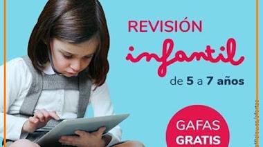 Revisión y gafas gratis para niños