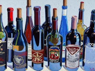 bodegones-de-vinos-representaciones-realistas cuadros-de-vinos-pinturas-oleo