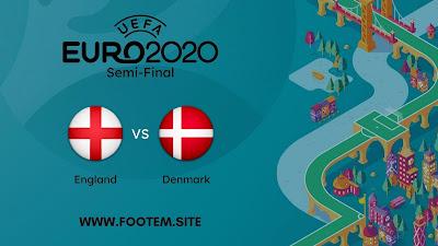 England vs Denmark footem