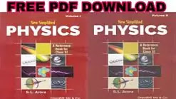 11 , 12 Class New Simplified Physics by S.L. Arora Free PDF Download