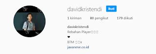 instagram @davidkristendi