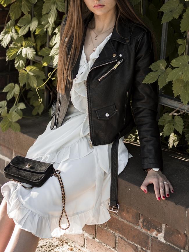 biała romantyczna sukienka