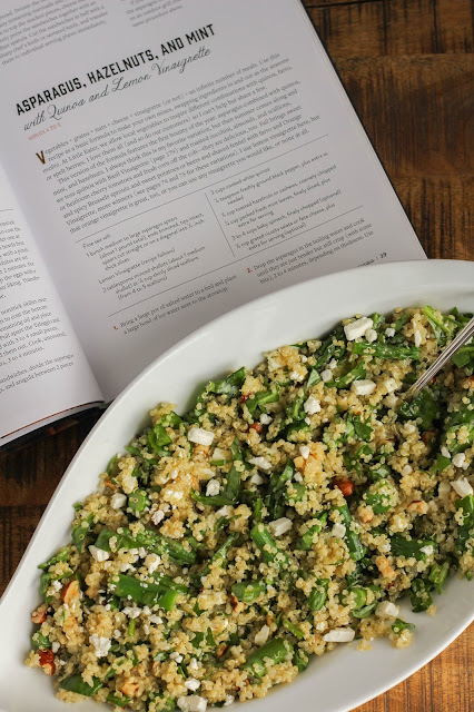 Asparagus, Hazelnuts, and Mint with Quinoa and Lemon Vinaigrette | The Chef Next Door #WeekdaySupper