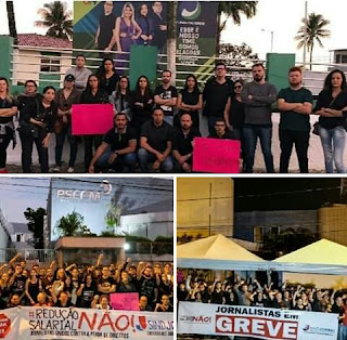 Jornalistas Alagoanos se manifesta em busca do seus direitos.