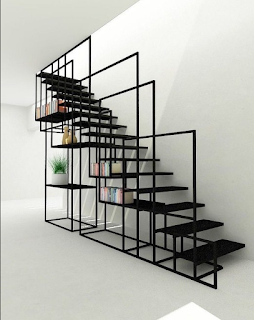 10 desain terbaru tangga besi minimalis rumah bertingkat