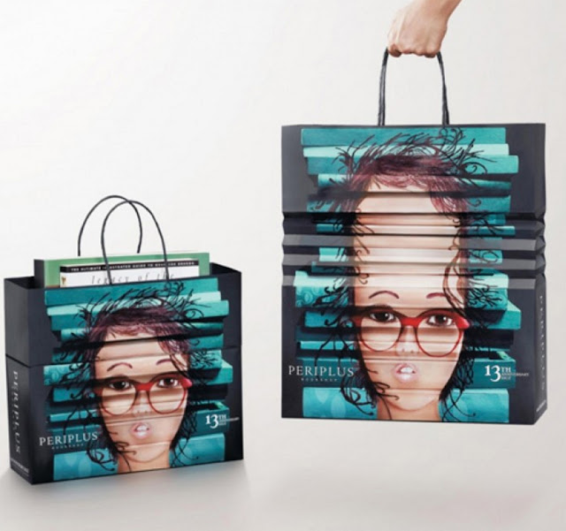 Green Pear Diaries, diseño, packaging, bagvertising, bolsas creativas, Periplus