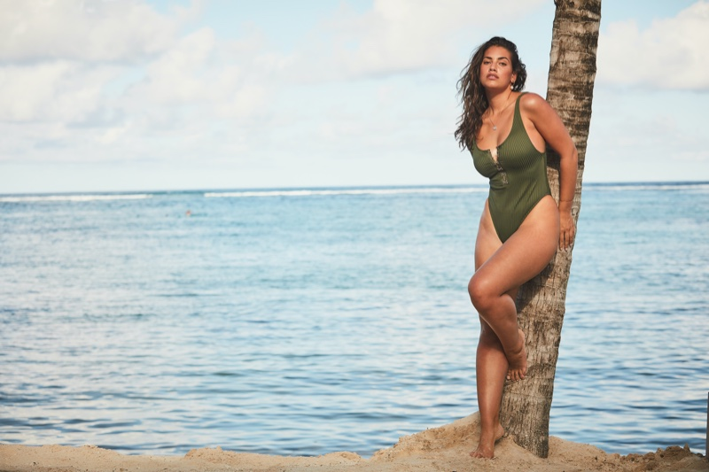 Lorena Duran poses in Victoria's Secret swimwear summer 2020 campaign.