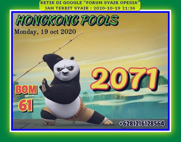Kode syair Hongkong senin 19 oktober 2020 47