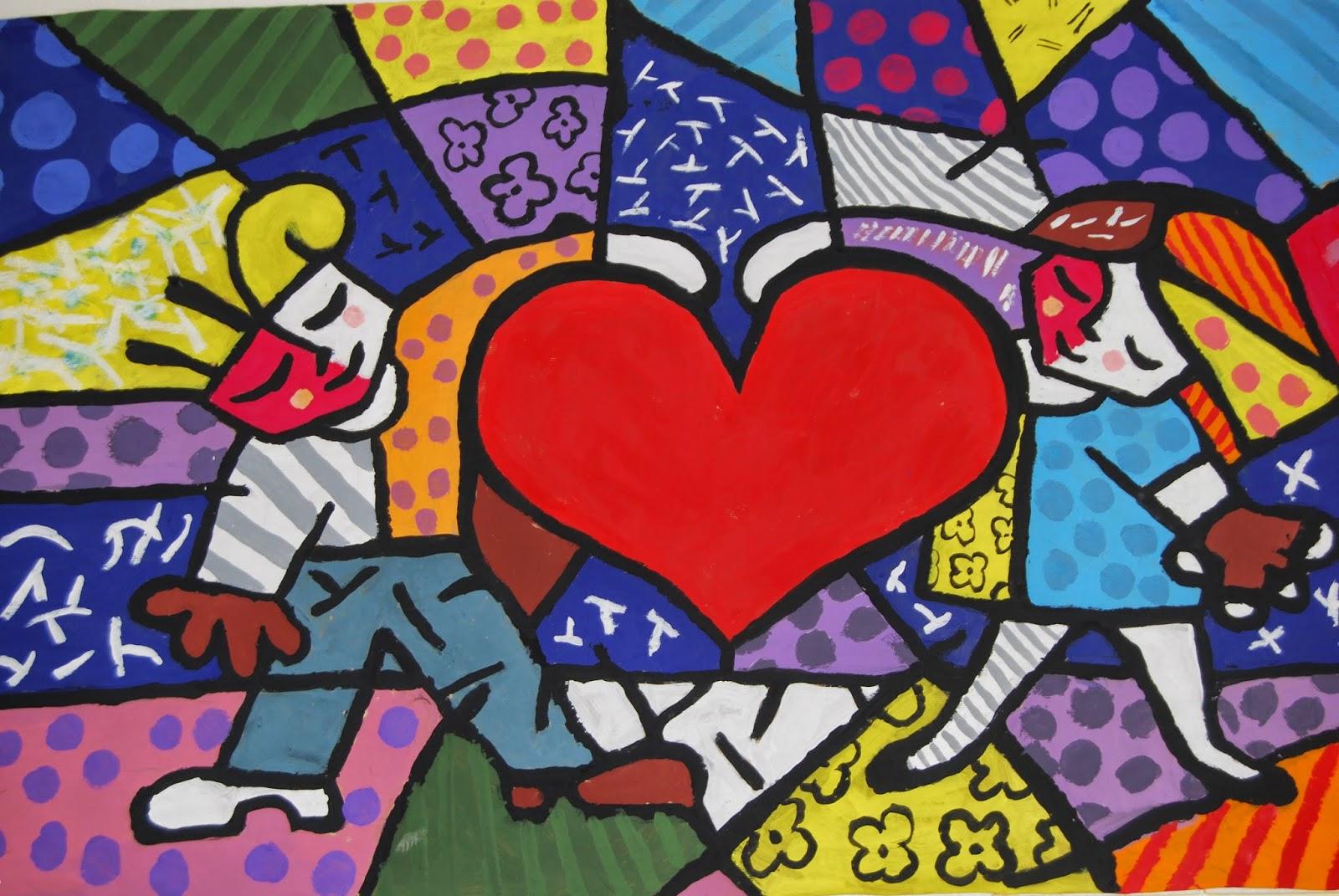 Saricole Murales Inspirados En Los Cuadros De Romero Brito
