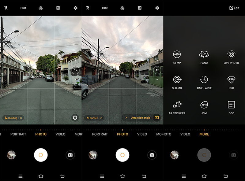 Camera UI and features