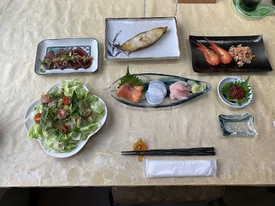 民宿たんぽぽの夕食