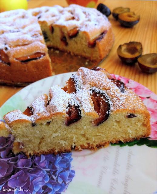 Ucierane ciasto ze śliwkami przepis