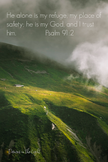 He alone is my refuge, my place of safety; he is my God and I trust him.